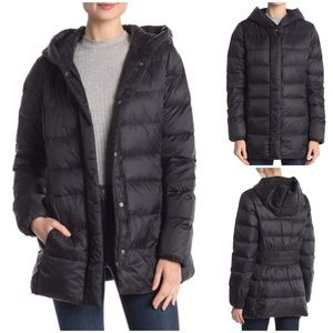 NWT Cole Haan Down Feather Quilted Puffer Coat S